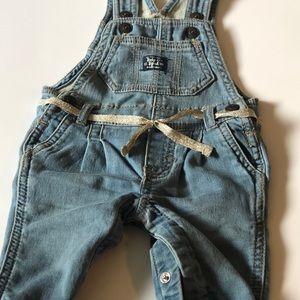 Oshkosh B'gosh Baby girl denim overalls